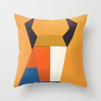taurus Throw Pillows featuring Taurus by Fernando Vieira