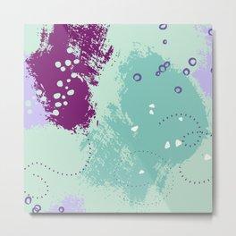 Mint viole strokes Metal Print