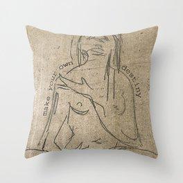 make your own destiny Throw Pillow