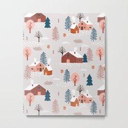 Winter houses Metal Print