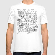 The Tire Dragon Mens Fitted Tee SMALL White