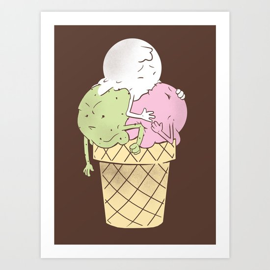 3 is a Crowd Art Print