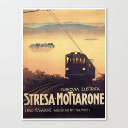Vintage poster - Stresa-Mottarone Canvas Print