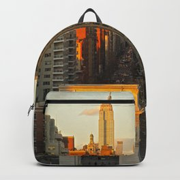 Sunset over Washington Square Park Backpack