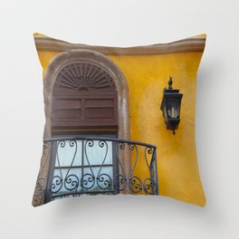 A Window in Mexico Throw Pillow