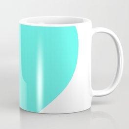 Heart (Turquoise & White) Coffee Mug
