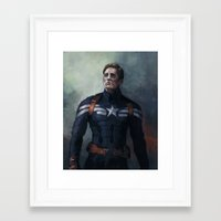 captain Framed Art Prints featuring Captain by charlotvanh