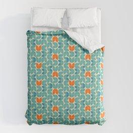Mid Century Modern Scandinavian Tulips Comforters