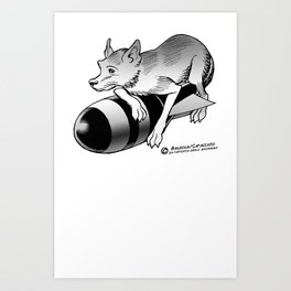 ROCKET FOX Art Print