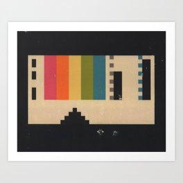 VHS Pixels Art Print