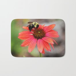 Bumble Bee On Coneflower Bath Mat