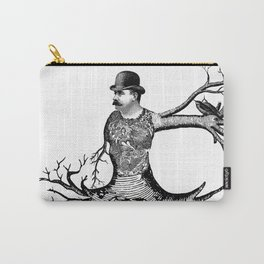 Black & White - Victorian Tatooed Tree Man Carry-All Pouch