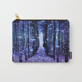 Magical Forest Turquoise Purple Carry-All Pouch