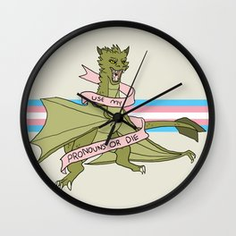 Use my Pronouns Wall Clock
