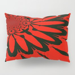 The Modern Flower Red & Black Pillow Sham