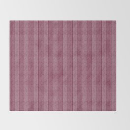 """Pink Vertical Lines Wool Texture"" Throw Blanket"