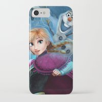 olaf iPhone & iPod Cases featuring Anna & Olaf  by This Is Niniel Illustrator