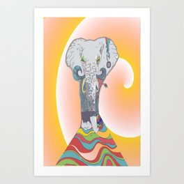 Sleeping Elephant Art Print