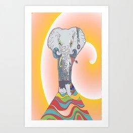 Sleeping Elephant Art Print