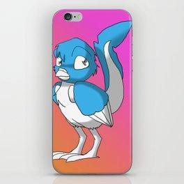 Light Blue/Color-Or-Paint-Your-Own Reptilian Bird 3 #ArtofGaneneK #Animal iPhone Skin