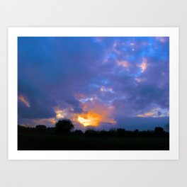 Sunset from my house 5 Art Print