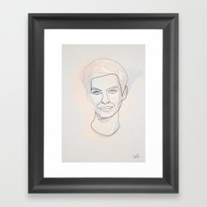 One line Anne Hathaway Framed Art Print