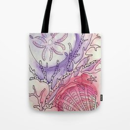 Sand Dollar & Scallop Shell Tote Bag