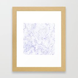 Secret places I - handmade blue map Framed Art Print