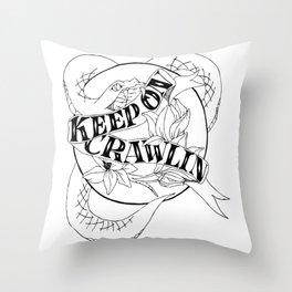 Crawling King Snake Throw Pillow