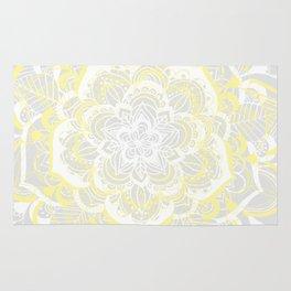 Woven Fantasy - Yellow, Grey & White Mandala Rug