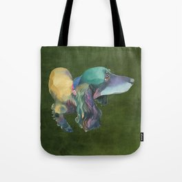 Longhaired Dachshund Tote Bag