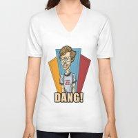 napoleon V-neck T-shirts featuring Napoleon Dynamite by Michael Duhamel