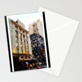 Beautiful Brisbane City - Edward Street Art Deco Building - Digital Painting Stationery Cards