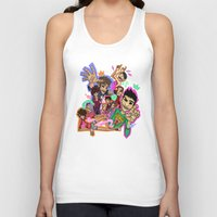 cargline Tank Tops featuring Collage by cargline