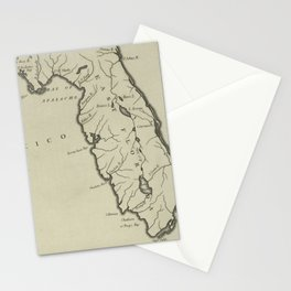 Vintage Map of Florida (1794) Stationery Cards