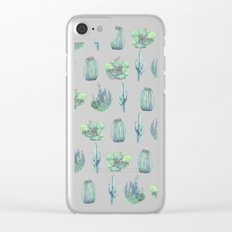 cactus pattern! Clear iPhone Case