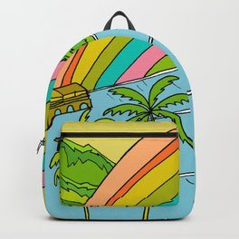 Surf Paradise Rainbow of Happiness Backpack