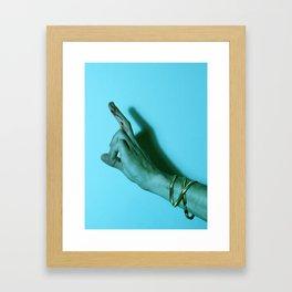 Bloody Finger Framed Art Print
