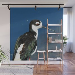 Juvenile Black Necked Stilt Wall Mural