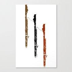 Bassoon Trio  Canvas Print