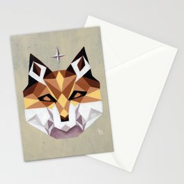 Geometric Fox Stationery Cards