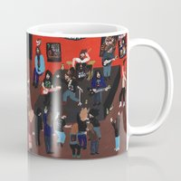 concert Mugs featuring Metal Concert by Angela Dalinger