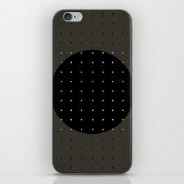 """""""Grey & Polka dots central circle pattern"""" iPhone Skin"""