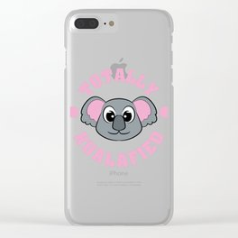 """Be """"Totally Koalafied"""" with this cute and adorable koala inviting you to grab them now!  Clear iPhone Case"""