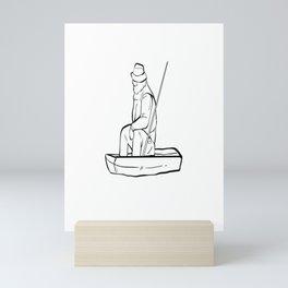 Fishing Grandpa is my name fishing is my game design Mini Art Print