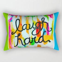 Laugh Hard Rectangular Pillow
