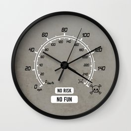 No Risk No Fun Wall Clock