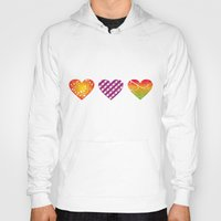 hearts Hoodies featuring hearts by Li-Bro