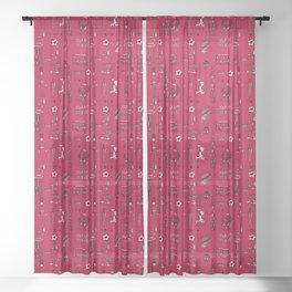 English pattern Sheer Curtain