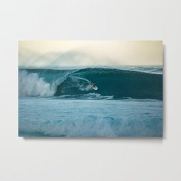Surfing Mornings Metal Print